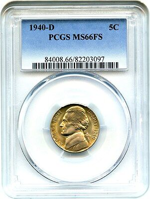 1940-D 5c PCGS MS66 FS - Jefferson Nickel