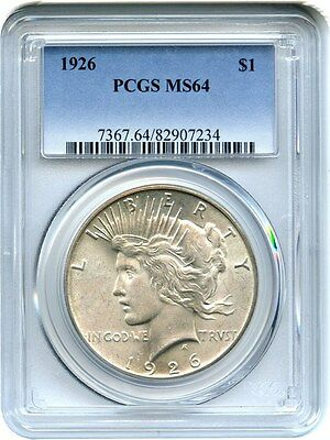 1926 $1 PCGS MS64 - Peace Silver Dollar