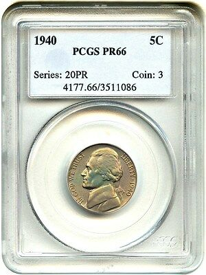 1940 5c PCGS PR 66 - Jefferson Nickel