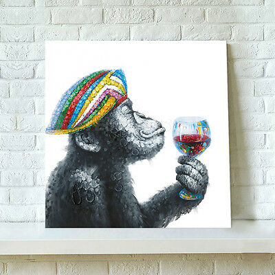 Unframed Canvas Prints Modern Decor Wall Art Picture-Chimp Enjoys Red Wine