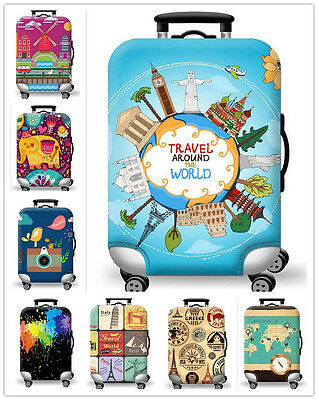 20/24/28 Inch Elastic Travel Luggage Cover Dust-proof Protective Suitcase Cover