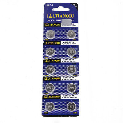 watch camera Alkaline batteries button cells 10 x AG13 LR44 SR44 L1154 357 A76 U