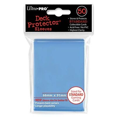 50 Ultra Pro Solid LIGHT BLUE Deck Protector CCG MTG Pokemon Gaming Card Sleeves