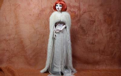 ~Tourmaline Mink Fur Cloak Cape for Evangeline Ghastly Gene Sydney dolls~dimitha