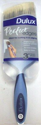 "Dulux Perfect Edge Paint Decorating Angled Paint Brush Cutting In Brush 3"" 75mm"