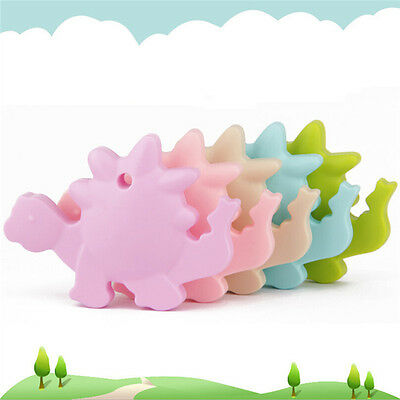 Cute Silicone Dinosaur Teething Pacifier Pendant Toy Soother Teether Baby Kids