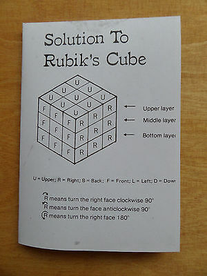 Rubik's Cube Solution Leaflet