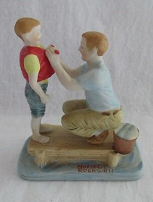 """Norman Rockwell Porcelain Figurine """" Father And Son"""""""