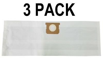 3 Vacuum Filter Bags for Shop Vac 90661 Type E 5 - 8 Gal 906-61-00