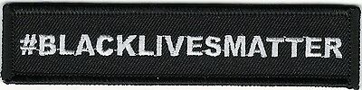 "1"" x 4 1/2"" #BLACKLIVESMATTER Black Lives Matter Movement Iron On Patch"