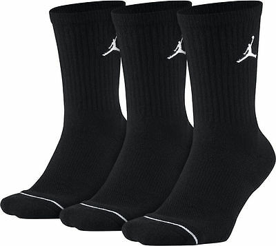 MEN JORDAN DRI-FIT CREW SOCKS 3-PACK Black [z]SX5545-013