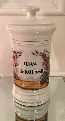 Antique Old Paris Porcelain Apothecary Jar