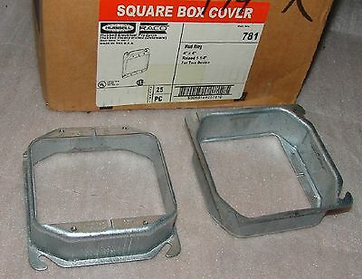 (24) Hubbell Raco 781 square box cover mudring