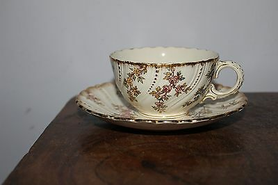 French Antique Porcelain Tea Cup from Sarreguemines- France- Louis XV - 1880