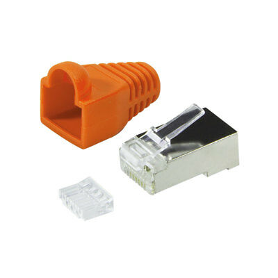 20 x CAT6 RJ45 Patchkabel Modular Crimp Stecker geschirmt orange CAT 6 Netzwerk