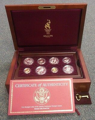 1996 Atlanta Olympics 16 Piece Gold & Silver Proof Set With Ogp   (1241Jgr)