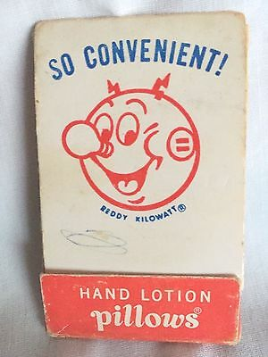 Vintage Advertising / General Electric / Reddy Kilowatt / Lotion Pillows