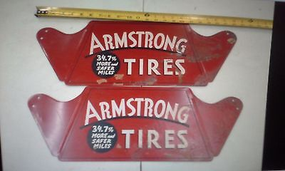RARE NEW OLD STOCK ARMSTRONG TIRE STANDS....1930's - 1940's