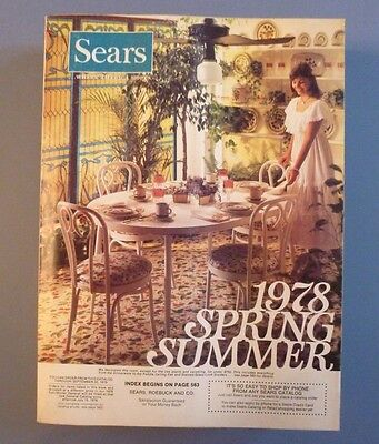 Sears Spring And Summer  1978 Catalog  Nearly Mint Clean Condition