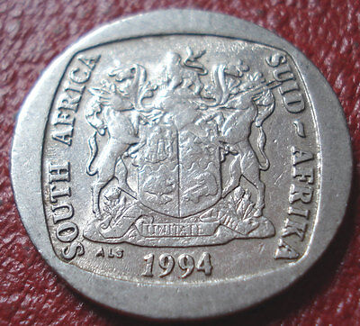 1994 South Africa 5 Rand In Vf Condition