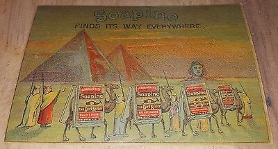 Victorian Trade Card SOAPINE Camels Pyramids Kendall Providence RI