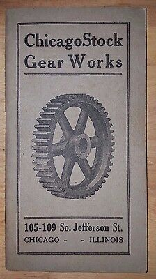 ANTIQUE c1910 CHICAGO GEAR WORKS CATALOG  PRODUCTS BOOK & PRICE GUIDE