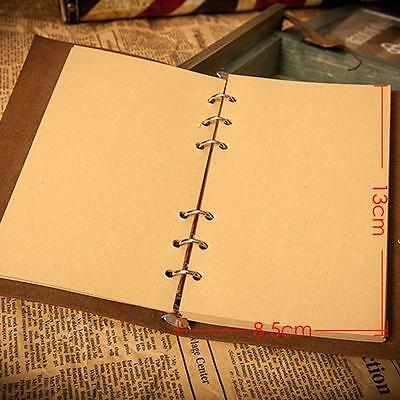 Retro Leather Vintage String Leaf Blank Diary Notebook Journal Sketchbook WRBCO