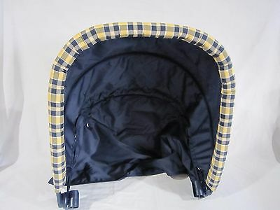 New Rear Back Canopy for Graco Duo Glider Double Stroller Princeton Dark Blue