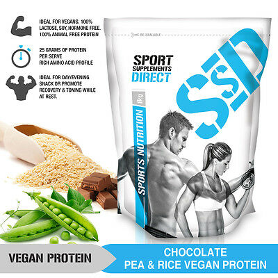 Vegan Protein Powder Chocolate & Vanilla  -  Pea And Rice Protein 1 To 3Kg