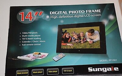 Sungale 14 Inch WiFi Cloud Digital Photo Frame with Remote Control, Model PF1501