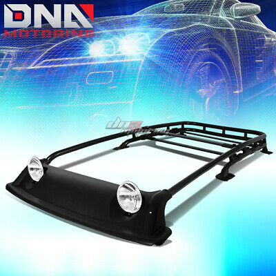 Offroad Oe Style Roof Rack+Air Dam+Fog Light+Lamp Cover Kit Fit 07-14 Fj Cruiser