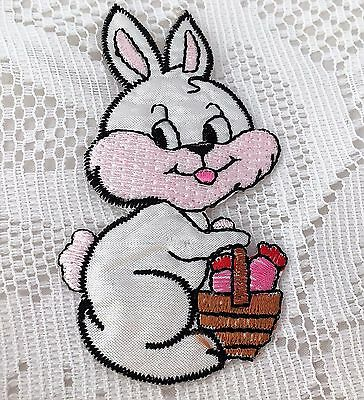 Sew Iron on Bunny Rabbit Patches Embroidered