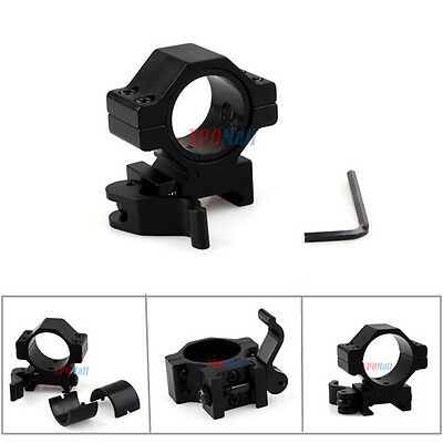 """2PCS 1"""" 25.4/ 30mm Ring Picatinny Rail Quick Release Rifle Scope Mount"""