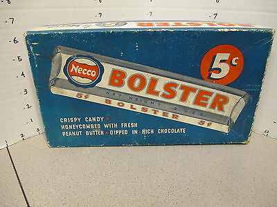 NECCO BOLSTER 1940s vintage candy bar box store display peanut butter chocolate