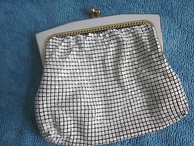 vintage GLOMESH white mesh COIN PURSE small AF