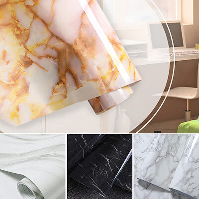 Marble Waterproof Self Adhesive Wall paper Sticker Modern Paper Sticker