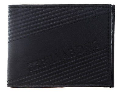 "Brand New + Tag Billabong Mens / Boys Tri-Fold Wallet ""slice"" Black"