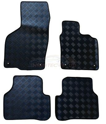 VW Passat B6 B7 2005-2015 tailored 4pc set black rubber car floor mats 5111