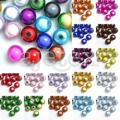 10/20/40/80/120pcs Acrylique Magiques Miracle Rond Perles Beads 4/6/8/10/12mm