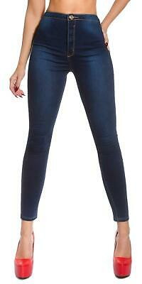 Women's High Waist Stretch Denim Skinny Jeans - S/M