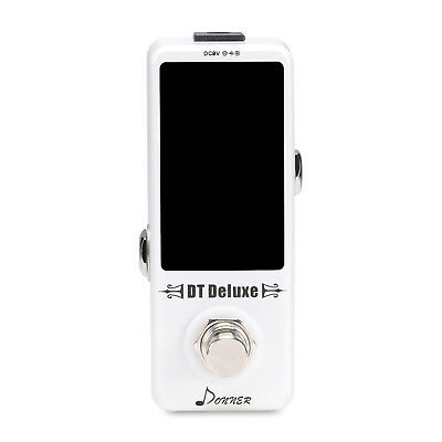 Donner DT Deluxe Guitar Tuner Pedal ±0.1 Cent for Guitar & Bass New