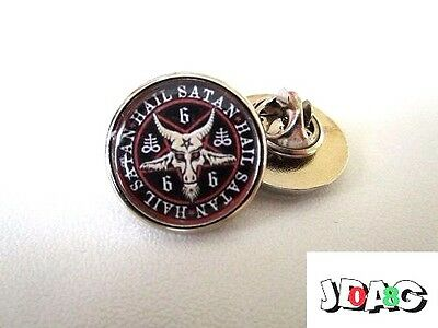 Pins Pin's Badge Satanisme Baphomet 666 Satan Esoterisme - Finition Argent Ou Or