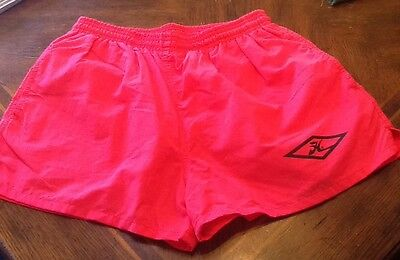 Vintage HOBIE Swim Trunks Shorts Men's Size Medium Hot Pink EUC Hot Shorts!