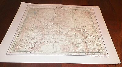 1911 Antique Map Wyoming LL Poates Engr'g Co./Dodd Mead & Co. U.S.