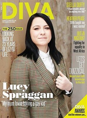 DIVA MAGAZINE APRIL 2017 - 250th ISSUE / LESBIAN LIFESTYLE / LUCY SPRAGGAN