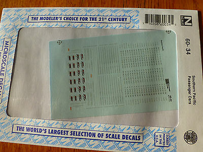 "Microscale Decal HO #87-34 Southern Pacific SP Passenger Cars /""Daylight/"""