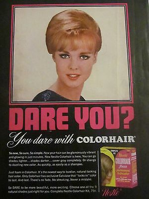 Nestle Colorhair Foam, Hair Color, Full Page Vintage Print Ad
