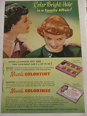 Nestle Hair Color, Full Page Vintage Print Ad