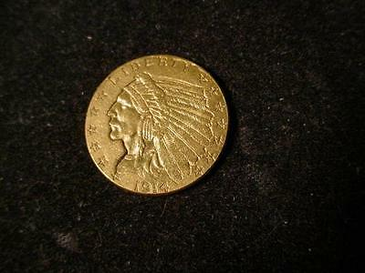 1914 $2/12 Gold Indian Coin