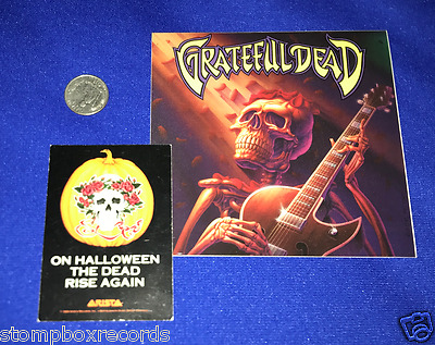 vintage 1989 GRATEFUL DEAD PROMO PLAYING CARD Arista Halloween Rise Again+stickr